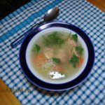 Суп картофельный с красной рыбой