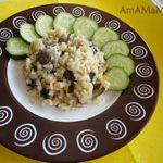 Ризотто с грибами (рис с вешенками)