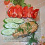Красная рыба в сливках (в духовке)