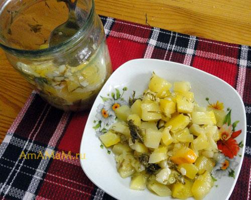 рецепт салат с кобачков