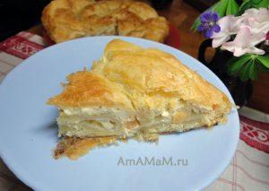 Простой и вкусный пирог с творогом - рецепт с фото