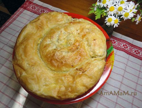 Пирог уложен по спирали - вкусно и просто!