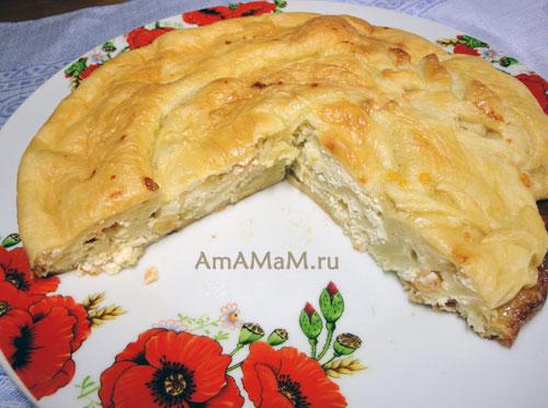 Дрожжевое слоеное тесто с творогом рецепт