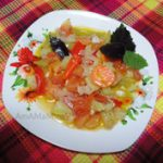 Овощное рагу из из кабачков, перца, морковки и помидоров