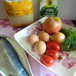 Состав селедочного салата с рисом и яблоками