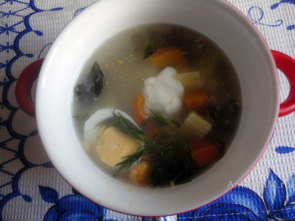 Приготовление супа со щавелем