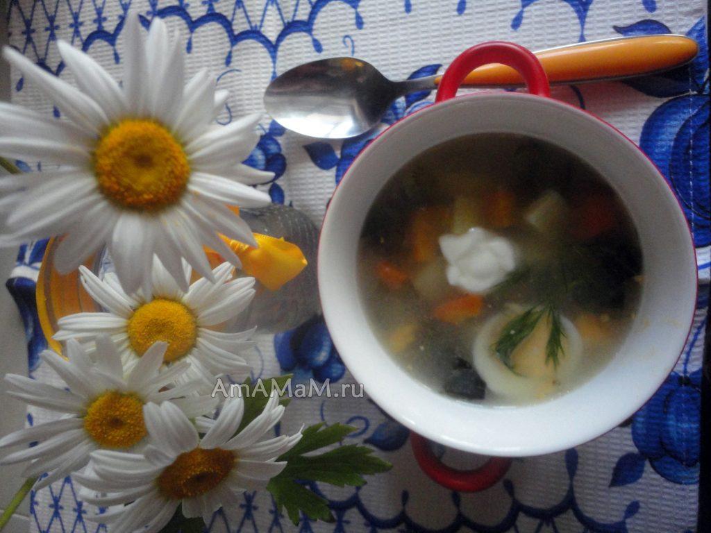 Суп со щавелем - рецепт и фото