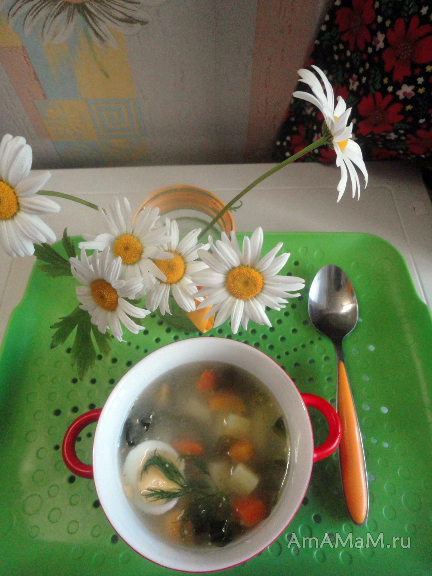 суп щавелевый на курице рецепты с фото