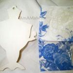 Декупаж разделочной доски – Чайный сервиз на стенку