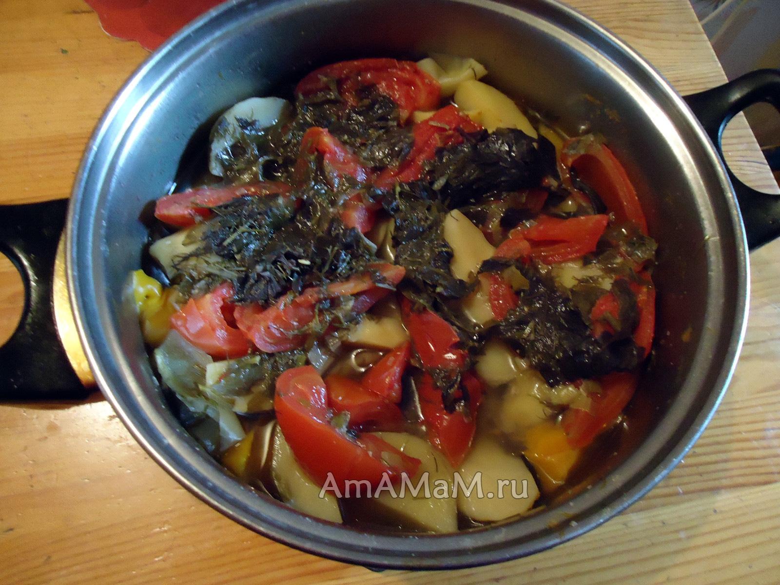 рецепты смак ролло со свининой и овощами