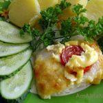 Филе дорадо запеченное с сыром и майонезом