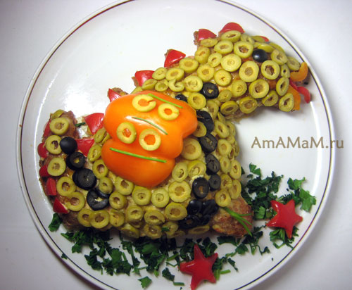 Как выглядит дракон, сделанный из еды