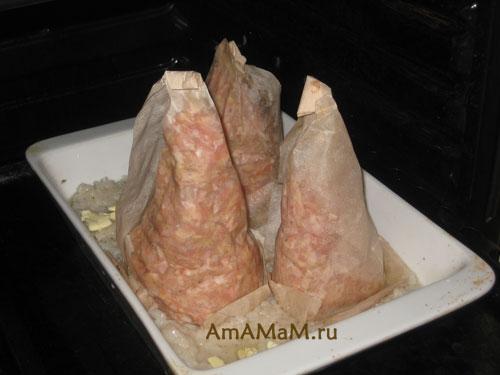 Приготовления новогодних блюд в виде елочек