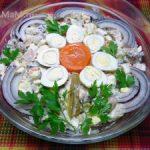 Салат из фасоли с беконом