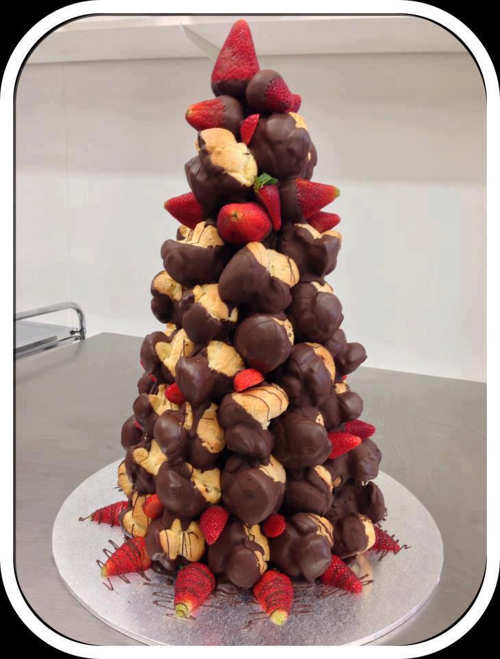 Из чего сделать съедобную елку - фото профитролей в шоколаде
