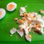 Кк нарезать яйца - фото и рецепт салата