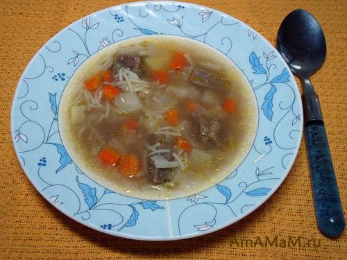 как варить суп с пакета с картошкой