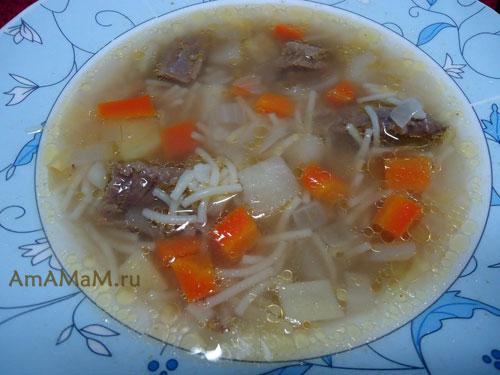 рецепт картофельного супа на говяжьем бульоне