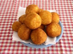 Как выглядят аранчини - рисовые крокеты (итальянская кухня)
