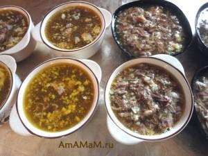 Вкусный холодец из говядины - рецепт, пропорции и фото