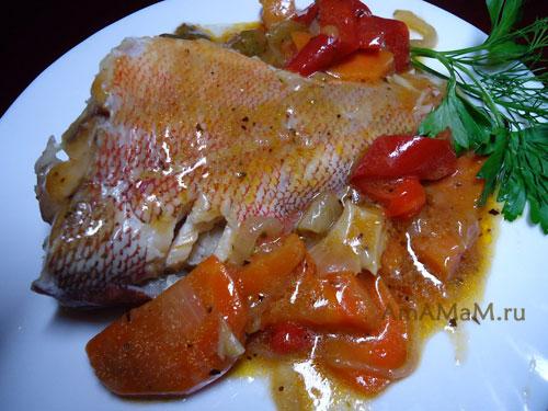 Простой рецепт морского окуня в томате с фото