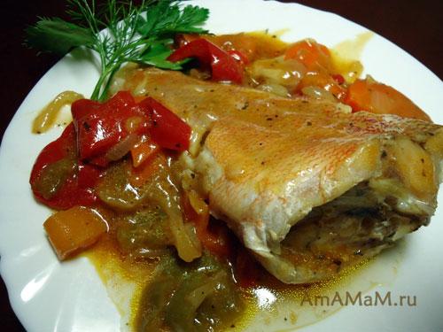 Рецепт морского окуня в томате - вкусно и просто!