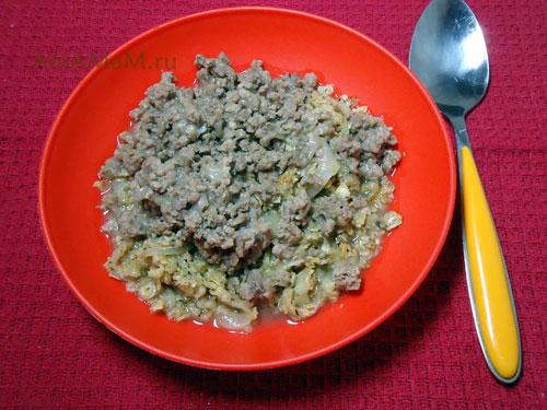 Рецепт овсяной каши с фаршем - шотландское блюдо из обжаренных геркулесовых хлопьев и мясного фарша
