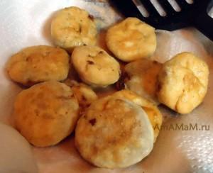 Рецепт простых жареных пирожков на один укус с мясом