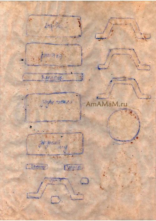 Какие детали есть у джипа Мерседес - шаблон-выкройка