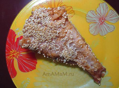 Рыба в кунжуте - рецепт приготовления и фото