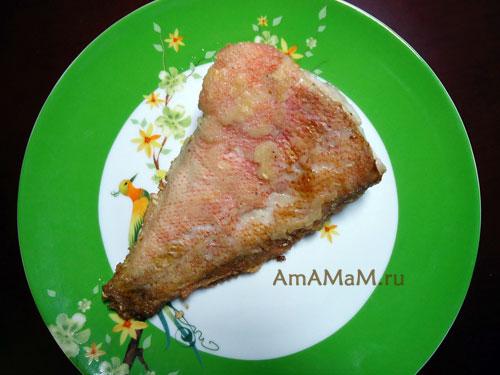 Рецепт морского окуня в мучной панировке с фото