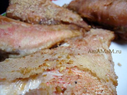 Рецепт жарки рыбы в кунжутной, мучной, манной и крахмальной панировке! Очень вкусно и разнообразно!