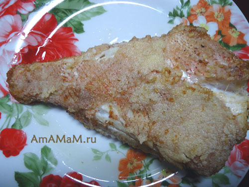 Жареный морской окунь в манке - вкусная рыбка
