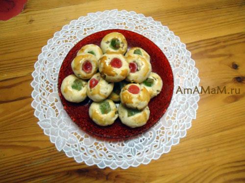 Вкусная домашняя еда - рассыпчатое печенье с орехами