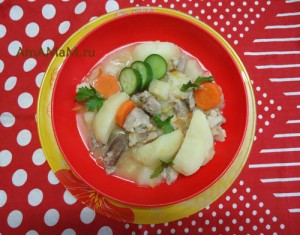 Рецепт тушеной свинины с картошкой и красной чечевицей