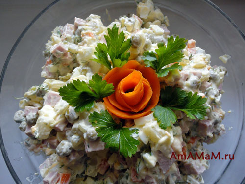 Морковные розы для праздничного стола