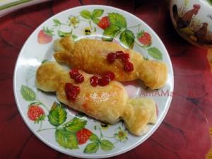 Рецепт приготовления жареных слоеных пирожков с фото