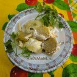Брюссельская капуста под сметаной и сыром