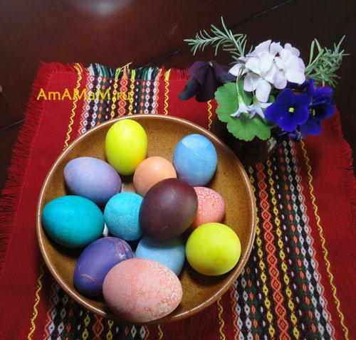 Как красить яйца на пасху - фото