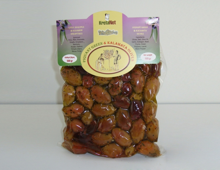 Как выглядят оливки каламата (упаковка греческих маринованных оливок)