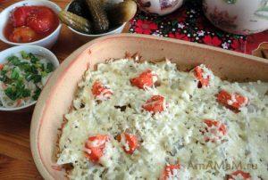 Вкусные блюда без мяса: рецепт картошки - запеченной в духовке с фото.