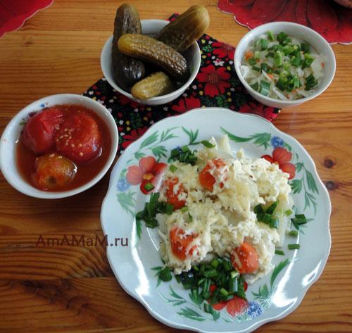 Простые домашние рецепты: запеченная картошка под сыром.