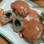 Куриные котлетки с оливками и грибами