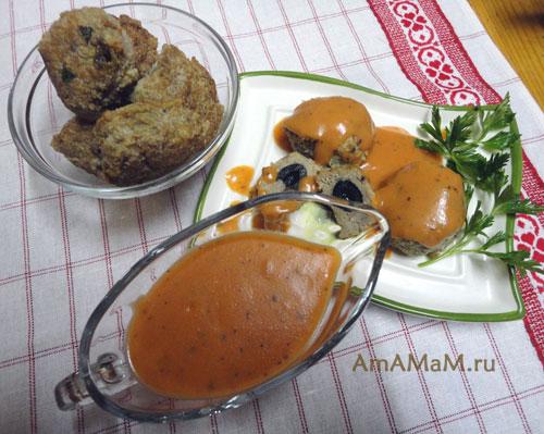 Фото томатного соуса домашнего приготовления и простой рецепт