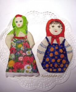 Куклы из соленого теста - необычный подарок женщине на 8 марта (фото)