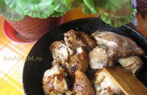Тушеная курица без масла в соусе наршараб - простой и вкусный рецепт с минимумом ингредиентов
