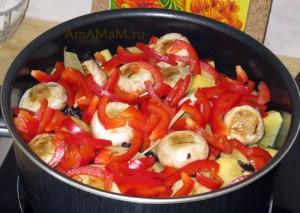 Что приготовить из мяса, овощей и грибов - простой рецепт с фото