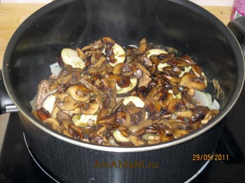 Как приготовить вкусное мясо с грибами и овощами - простой и вкусный рецепт