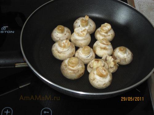 Подготовка грибов для мясного рагу
