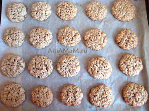 Вкусное домашнее печенье из овсяных хлопьев